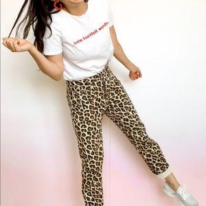Cheetah print, high waisted, pants!